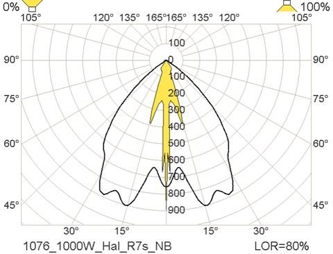 1076 1000W halogen R7s NB