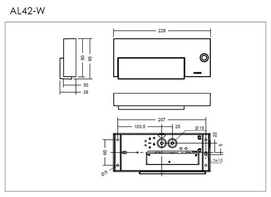 AL42-W_LED_measurement_drawaing