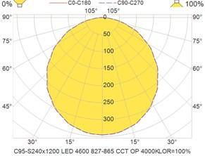 C95-S240x1200 LED 4600 827-865 CCT OP 4000K