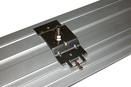 Mounting bolt and nut/threaded plate