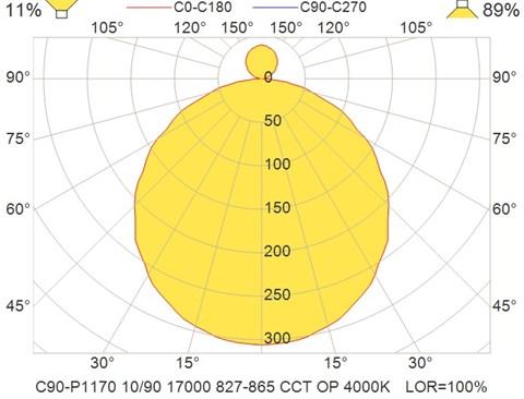 C90-P1170 10-90 17000 827-865 CCT OP 4000K